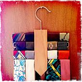 Ties on hanger - Stock Image - S01D2M