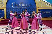 epa04644069 A general view of dancers at the world premiere of Disney's 'Cinderella' at the El Capitan Theatre Hollywood, Los Angeles, California, USA, 01 March 2015. The movie opens in the US on 13 March 2015.  EPA/NINA PROMMER - Stock Image - EH1CP9