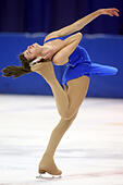 Fairbanks, AK, USA. 20th Mar, 2014. Team Alaska's Zoey Ferguson of Anchorage competes in the junior female figure skating team event Thursday, March 20, 2014, at the Carlson Centrer. Alaska won the silver ulu in the team event. Sam Harrel/News-Miner © Sam Harrel/News-Miner/Fairbanks Daily News-Miner/ZUMAPRESS.com/Alamy Live News - Stock Image - DXFHXN