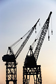 Cranes - Stock Image - BXE3GW
