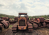 rusting tractors - Stock Image - D8B57W