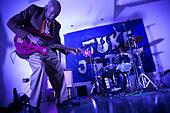 London, UK. Thursday 4th September 2014. Legendary Blues Man Leo Bud Welch, an 82 year old Mississippi-based Blues and Gospel musician playing his music live in London for the first time, following the release of his debut album in 2014. © Michael Kemp/Alamy Live News - Stock Image - E7377C