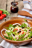 Pasta salad with tuna - Stock Image - CB3CB7