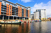 Clarence Dock, River Aire, Leeds, Yorkshire, England - Stock Image - EX8E3X