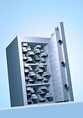 safe Tresor - Stock Image - AXGYT2