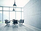 Conference room interior - Stock Image - EDHNY4