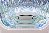 Looking up from the lobby of a modern building - Stock Image - EDTT6E