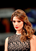 """Venice, Italy. 4th Sep, 2014. Actress Ashley Greene poses on the red carpet for """"Burying the ex"""" which is selected for screening during the 71st Venice Film Festival, in Lido of Venice, Italy, Sept. 4, 2014. © Xu Nizhi/Xinhua/Alamy Live News - Stock Image - E72RR1"""