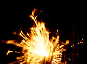 Sparklers on Guy Fawkes Night - Stock Image - AXTJ4E