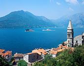 Perast, Bay of Kotor, Montenegro - Stock Image - BRECTE