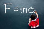 Newton Second law F=ma ( Apple ) - Stock Image - C50B4M