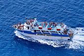 Cpt Marko cruise ship from Ayia Napa off Cape Greco - Stock Image - EA00R7