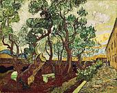 """""""fine arts, Gogh, Vincent van, (1853 - 1890), painting, """"le jardin de la maison des alines de Saint Remy"""", (""""the garden of Sa - Stock Image - AFNDJF"""