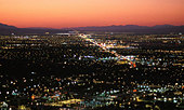 City lights at nightfall. (Las Vegas, Nevada, USA) - Stock Image - A5TF97