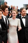 Josh Brolin, Benicio del Toro, Emily Blunt and Denis Villeneuve attending the 'Sicario' premiere at the 68th Cannes Film Festival on May 19, 2015/picture alliance - Stock Image - EPT3MC