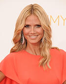 Los Angeles, California, USA. 25th Aug, 2014. Heidi Klum. attending the 66th Annual Primetime Emmy Awards -Arrivals held at the Nokia Theatre in Los Angeles, California on August 25, 2014. 2014 © D. Long/Globe Photos/ZUMA Wire/Alamy Live News - Stock Image - E6K1D8