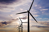 Wind Turbines, Watchfield, United Kingdom. - Stock Image - BP2A65
