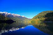 Lake Ritsa, Caucasus mountains, Abkhazia, Georgia - Stock Image - EFN85X