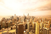 Overview of Downtown Chicago, Illinois, USA - Stock Image - CC7W6Y