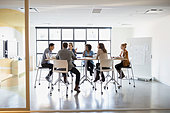 Business people meeting in conference room - Stock Image - EDDB3K