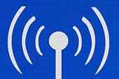 Internet hotspot public access road sign detail. - Stock Image - D343K6