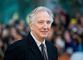"Toronto, Canada. 13th Sep, 2014. British director Alan Rickman attends the premiere of film ""A Little Chaos"" during the 2014 Toronto International Film Festival in Toronto, Canada, on Sept. 13, 2014. © Zou Zheng/Xinhua/Alamy Live News - Stock Image - E7CM8Y"