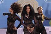 New York, USA. 24th July, 2015. Nicki Minaj performs for The Good Morning America concert series in Central Park. © ZUMA Press, Inc./Alamy Live News - Stock Image - EY8KWF