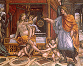 Rome Farnesina Fresco - Stock Image - CP5B16