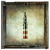 american bullet print - Stock Image - CETM94