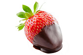 strawberry dipped in chocolate - Stock Image - CT7JGP