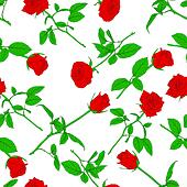 Seamless  background with roses. Could be used as seamless wallpaper, textile, wrapping paper or background - Stock Image - DNM118