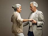 Couple dancing - Stock Image - AP3XRH