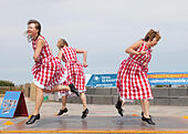 Whitley Bay UK. 26th July 2015.  Appalachian dancing by Step This Way  at the Whitley Bay Under The Dome Festival, North Tyneside. © Washington Imaging/Alamy Live News - Stock Image - EYBK7H