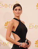 Los Angeles, California, USA. 25th Aug, 2014. LIZZY CAPLAN attending the 66th Annual Primetime Emmy Awards arrivals held at the Nokia Theatre. © D. Long/Globe Photos/ZUMA Wire/Alamy Live News - Stock Image - E6K223