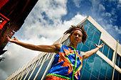 cuba,havana,folkloric show in the street - Stock Image - BKT02W
