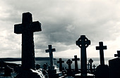 Mortehoe cemetery North Devon - Stock Image - AGAD78