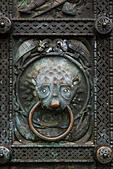 Detail from the main doors of St Petri Dom, Bremen, Germany. - Stock Image - E6RAWT