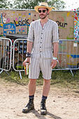 Will Young attends Glastonbury Festival at Worthy Farm on 27/06/2015 at Worthy Farm, Glastonbury.  Persons pictured: Will Young. Picture by Julie Edwards - Stock Image - EY2ETK