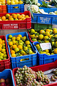Fresh fruit for sale at Larnaca Market, Cyprus - Stock Image - DJ9TEG