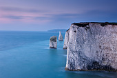 the white cliffs at Studland, Isle of Purbeck, Jurassic Coast, Dorset, England, UK - Stock Image - CRK9KT