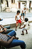 Santiago de Cuba, Cuba, girl dancing on the street - Stock Image - D15C14