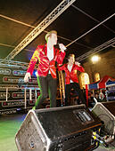 Blackburn, Lancashire, UK, 20th November 2014. Jedward appear live on stage at the Blackburn Xmas lights switch on. © Sue Burton/Alamy Live News - Stock Image - EAW0XX
