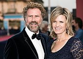 epa04394564 US actor and comedian Will Ferrell (L) and his wife Viveca Paulson arrive for the screening of 'Before I Go To Sleep' during the 40th annual Deauville American Film Festival, in Deauville, France, 10 September 2014. The movie is presented out of the official competition at the festival that runs from 05 to 14 September.  EPA/ETIENNE LAURENT - Stock Image - E7CFJ6