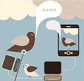 Social Network - vector concept for social media. - Stock Image - CEGYFY