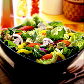 Bowl of salad - Stock Image - ARJA2G