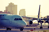 Commercial planes taxiing. - Stock Image - D58482