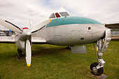 DeHavilland Dove aircraft at the Newark Air Museum - Stock Image - D89HRW