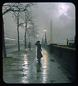 Embankment Lantern Slide - Stock Image - ANJPEC