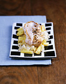 Redfish with pineapple sauerkraut - Stock Image - B461YA