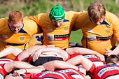 Rugby Front Row Scrum - Stock Image - E034G5